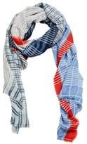 MANGO Striped textured scarf