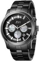 JBW Men's Delano Black Ion-Plated Stainless Steel & Diamond Chronograph watch, 48mm