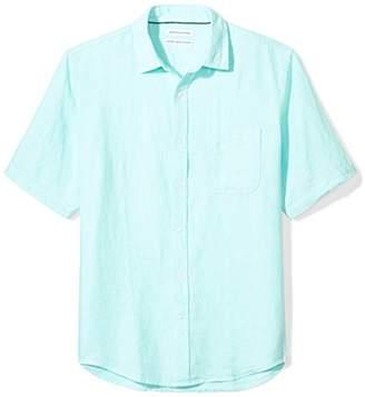 Amazon Essentials Regular-fit Short-sleeve Linen Shirt Button,(EU S)