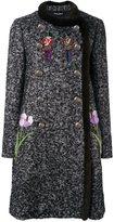 Dolce & Gabbana mink fur trim embellished bouclé coat