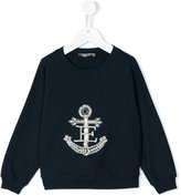 Ermanno Scervino embellished anchor sweatshirt - kids - Cotton/Spandex/Elastane - 4 yrs