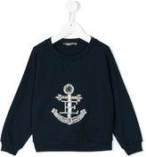Ermanno Scervino embellished anchor sweatshirt