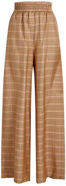 Golden Goose Sophie Wide-Leg Checked Pants
