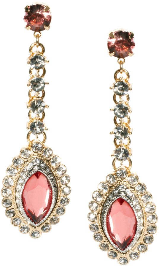 Asos Eye Long Drop Earring - Pink