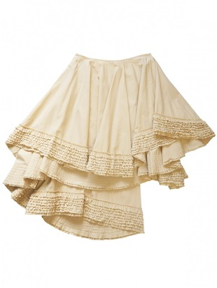 Alexander McQueen Beige Cotton Skirt for Women Vintage
