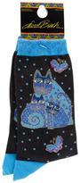 K. Bell Laurel Burch Socks - Indigo Cats