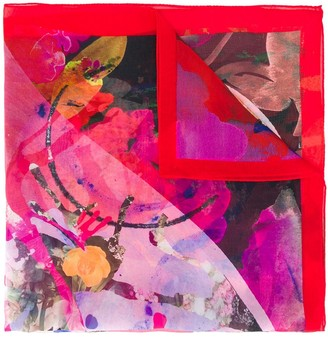 Paul Smith abstract floral print square scarf