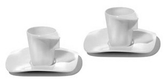 Alessi Express - Set of 2 Mocha Cups w/Saucers