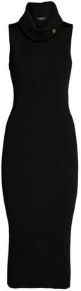 Balmain Sleeveless High-Neck Midi Dress