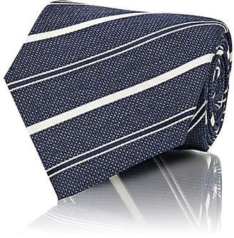 Isaia Men's Striped Silk Seven-Fold Necktie - Navy