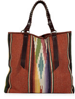 Totem Multicolor Tote with Studded Handles