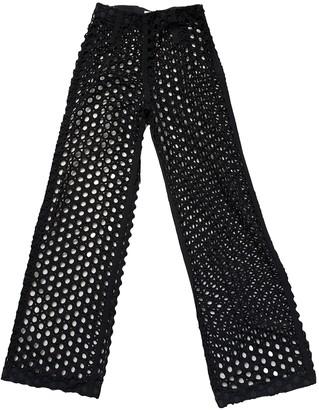 Isa Arfen Black Cotton Trousers for Women