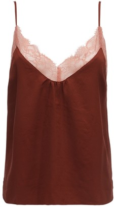 LOVE Stories Lynn Lace & Crepe Camisole Top