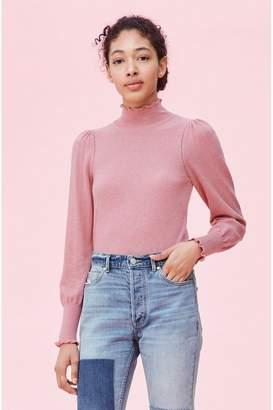 Rebecca Taylor La Vie Cozy Cotton Turtleneck Pullover