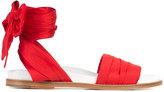 Marques Almeida Marques'almeida - flat sandals - women - Leather/Satin - 36