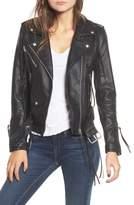 Blank NYC BLANKNYC Faux Leather Tassel Moto Jacket