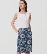 LOFT Floral Medallion Pencil Skirt