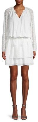 Ramy Brook Dorsey Long-Sleeve Blouson Dress