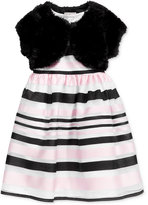 Marmellata Faux-Fur Shrug Special Occasion Dress, Toddler & Little Girls (2T-6X)