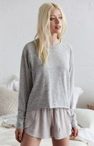 La Hearts Cropped Crew Neck Sweatshirt