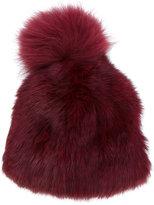 Yves Salomon Accessories - bobble hat - women - Rabbit Fur/Marmot Fur - One Size