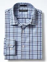 Banana Republic Grant-Fit Tri-Gingham Supima® Cotton Shirt