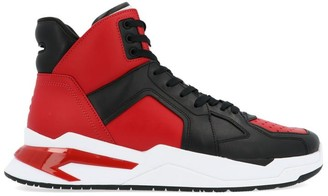 Balmain B-Ball Logo High Top Sneakers