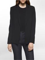Calvin Klein Crepe Open Jacket