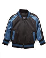 Urban Republic Teal & Black Eagle Embroidered Bomber Jacket - Boys