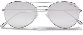 Tom Ford Aviator-style Gold-tone Sunglasses