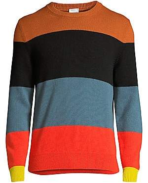 Paul Smith Men's Colorblock Stripe Cashmere Sweater