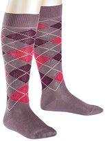Falke Girl's Classic Argyle Knee-High Socks,6