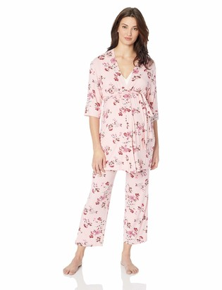 Everly Grey Womens 5 Piece Maternity and Nursing PJ Pant Set