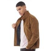 Farah Mens Bowie Cord Harrington Jacket Truffle