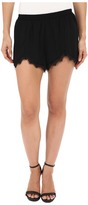 BB Dakota Marty Heavy Crepe and Lace Trim Petal Front Shorts