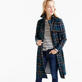 J.Crew Collection trench coat in tartan