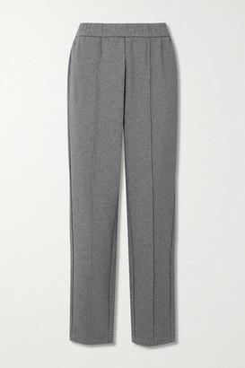 Varley Hanley Melange Cotton-blend Jersey Track Pants - Dark gray
