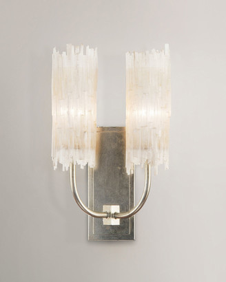 John-Richard Collection John Richard Collection Selenite Double Wall Sconce