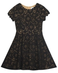 Rare Editions Big Girl Two Tone Lace Skater