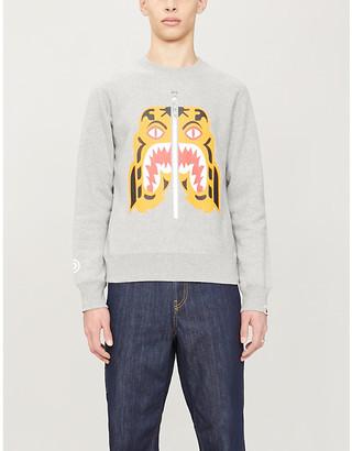 A Bathing Ape Tiger print cotton-jersey sweatshirt