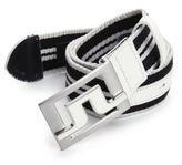 J. Lindeberg Golf Slater Striped Web Belt