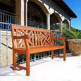 Vifah Atlantic All Weather Bench in Natural Wood
