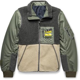 Neighborhood Colour-Block Shell And Fleece Jacket
