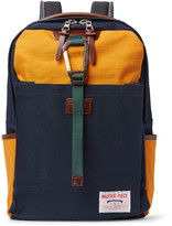 MASTERPIECE Link Leather-Trimmed Colour-Block Nylon Backpack