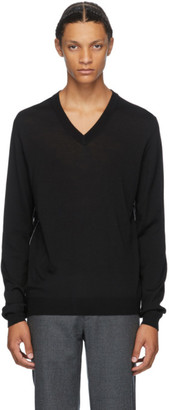 Maison Margiela Black Gauge 14 V-Neck Sweater