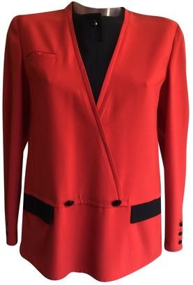 Valentino Red Wool Jackets
