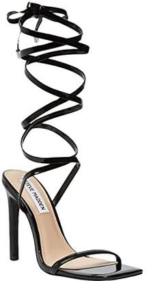 Steve Madden Uplift Heeled Sandal (Black Patent) Women's Shoes