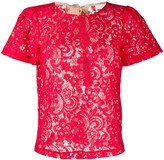 Semi-Couture sheer lace T-shirt
