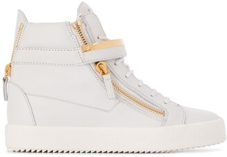 Giuseppe Zanotti High-Top Zipped Sneakers