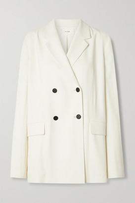 The Row Orla Double-breasted Crepe Blazer - Ivory